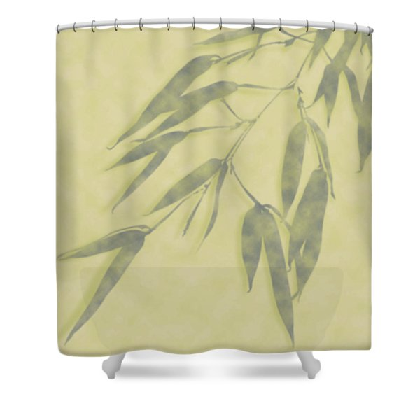 Bamboo Leaves 0580b Shower Curtain
