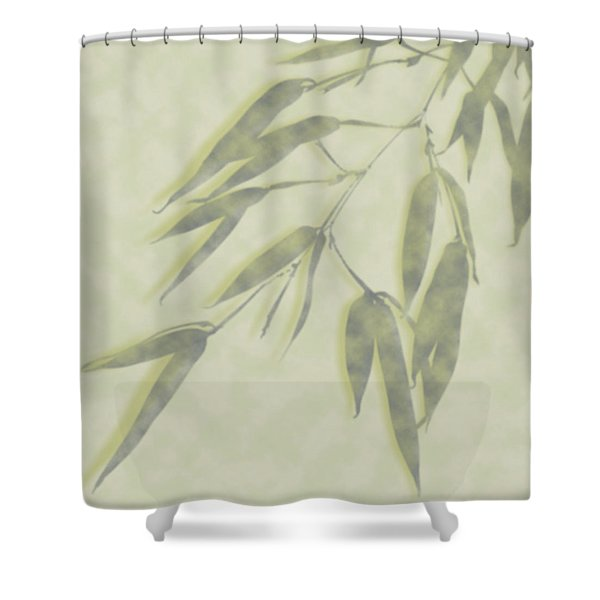 Bamboo Leaves 0580c Shower Curtain