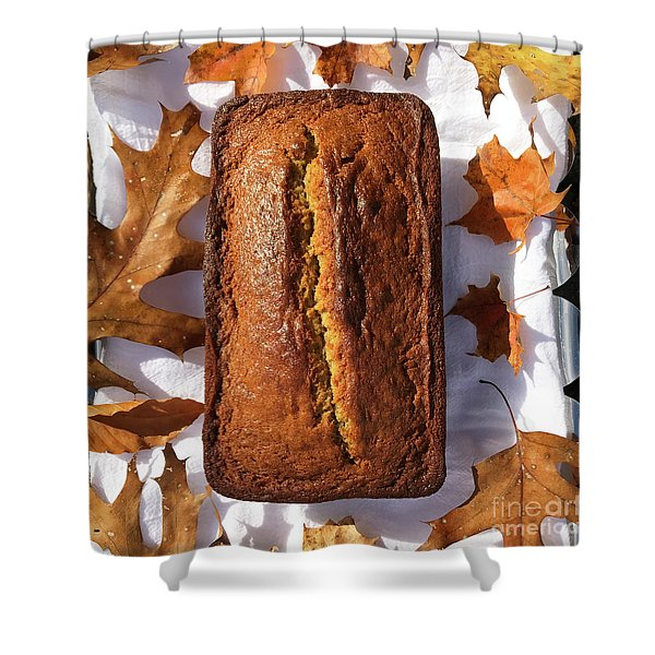 Banana Bread With Rum, Ginger And White Whole Wheat Shower Curtain