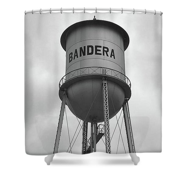 Bandera Water Tower In Texas Shower Curtain