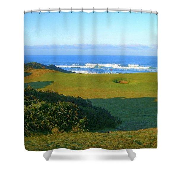 Bandon Dunes Golf Course - Hole #12 Shower Curtain