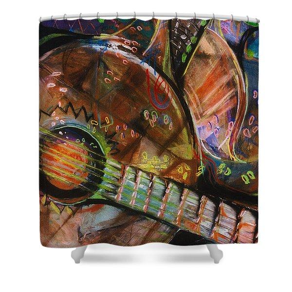 Banjos Jamming Shower Curtain