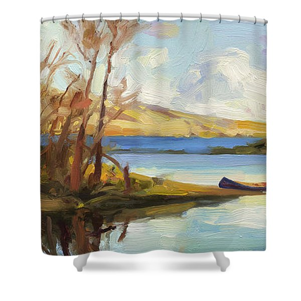 Banking On The Columbia Shower Curtain