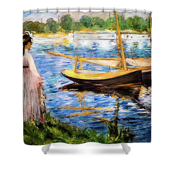 Banks Of The Seine At Argenteuil Shower Curtain