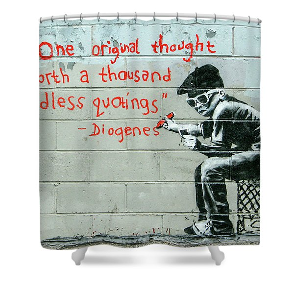 Banksy Diogenes Shower Curtain