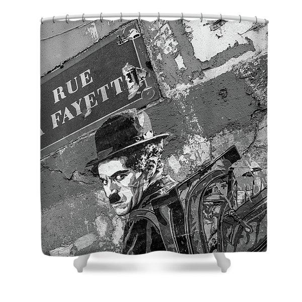 Banksy Rue La Lafayette Shower Curtain
