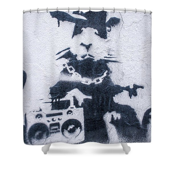 Banksy's Gansta Rat Shower Curtain