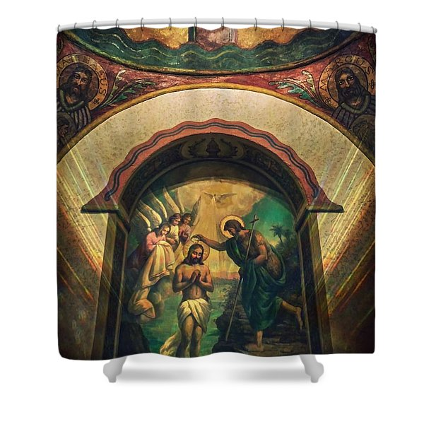 Baptism Of Christ By Richard Cuevas  Shower Curtain