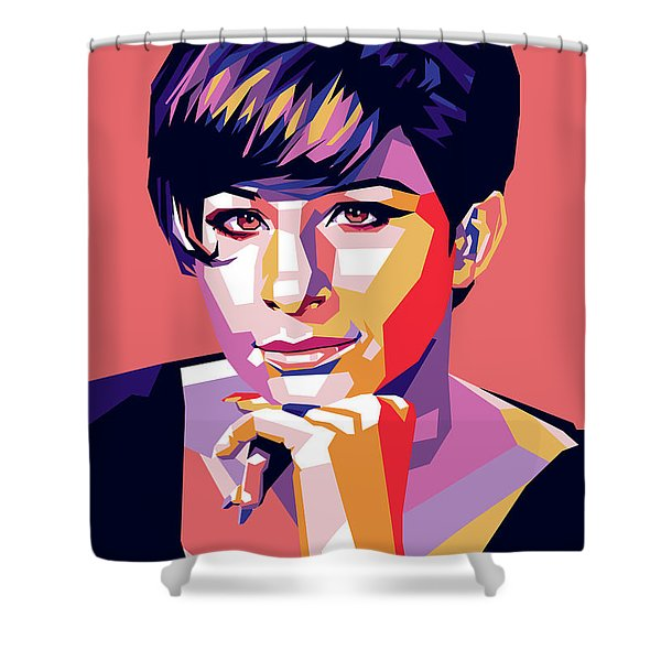 Barbra Streisand Pop Art Shower Curtain