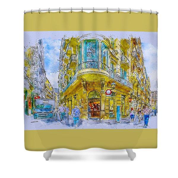 Barcelona Street Shower Curtain