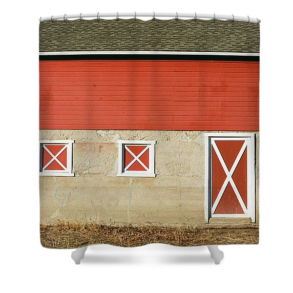 Barn Lines Shower Curtain