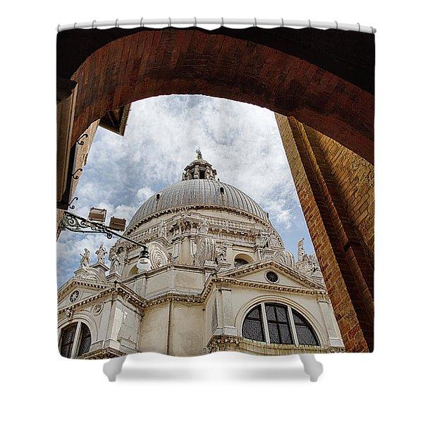 Basilica Di Santa Maria Della Salute Venice Italy Shower Curtain