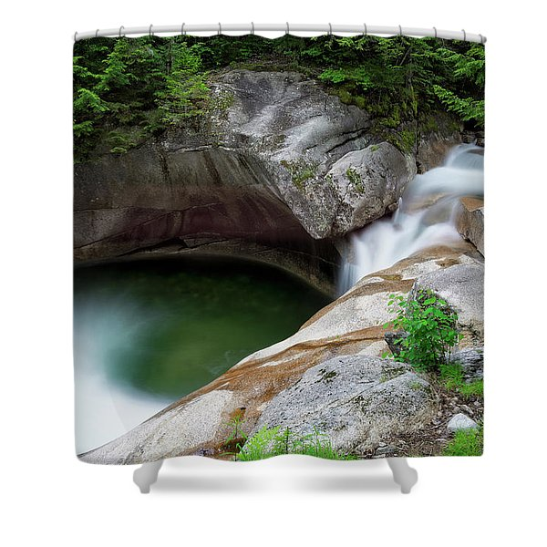 Basin From Above, Nh Shower Curtain