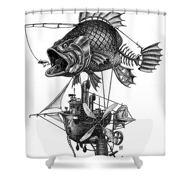 Bass Airship Shower Curtain