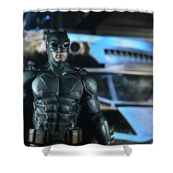Bat And His Ride Shower Curtain
