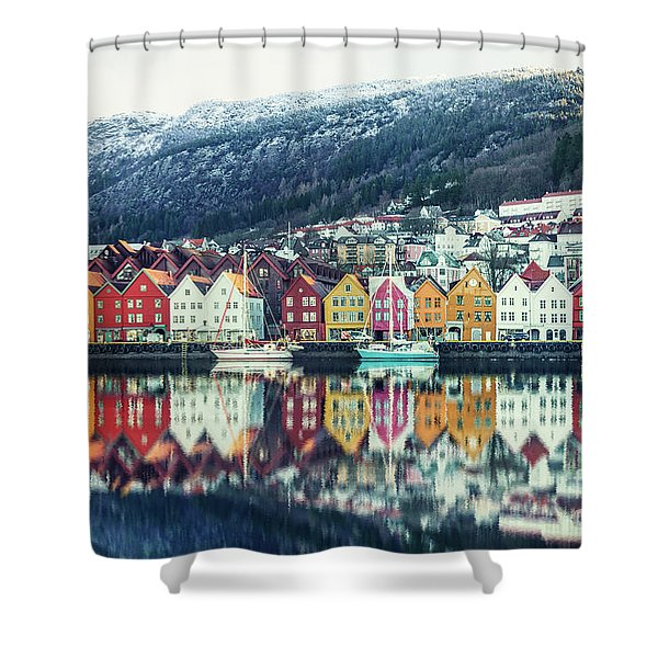 Bathed In Color Shower Curtain