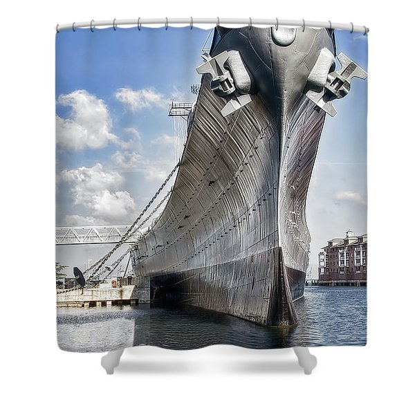 Battleship Uss Wisconsin Bb64 Shower Curtain