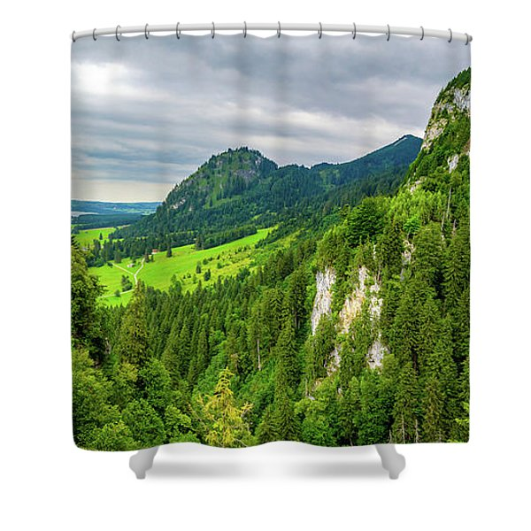 Bavarian Alps Panorama Shower Curtain