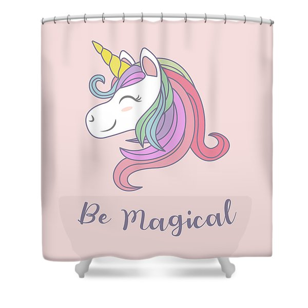 Be Magical - Baby Room Nursery Art Poster Print Shower Curtain