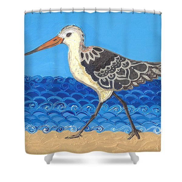Beach Bird 2 Shower Curtain
