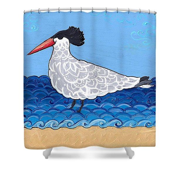 Beach Bird 3 Shower Curtain