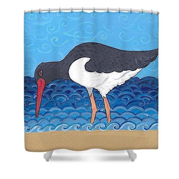 Beach Bird 4 Shower Curtain