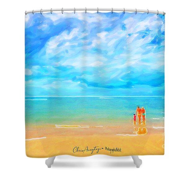 Beach Blues II Shower Curtain