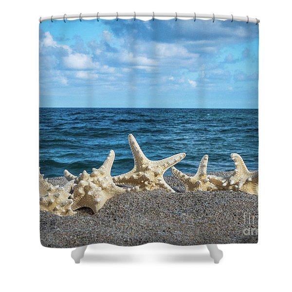 Beach Dance Shower Curtain