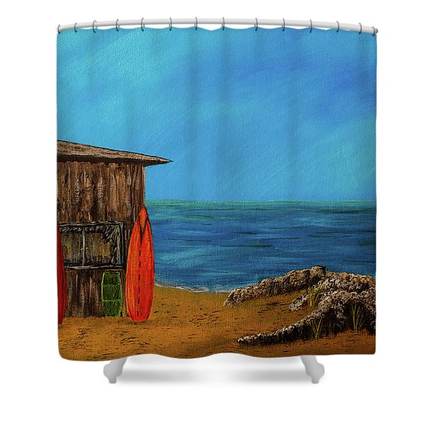 Beach House Shower Curtain