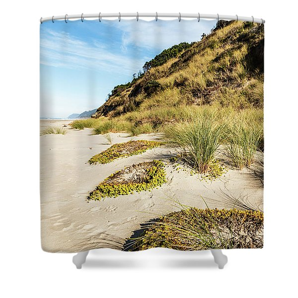 Beach Vegetation Shower Curtain