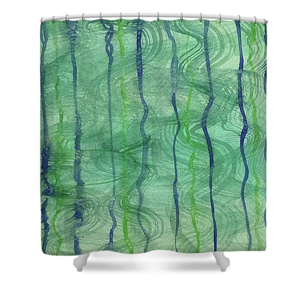 Beach Water Lines Shower Curtain