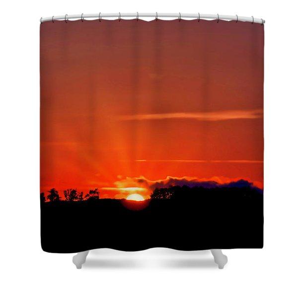 Beacon Heights Sunrise Shower Curtain