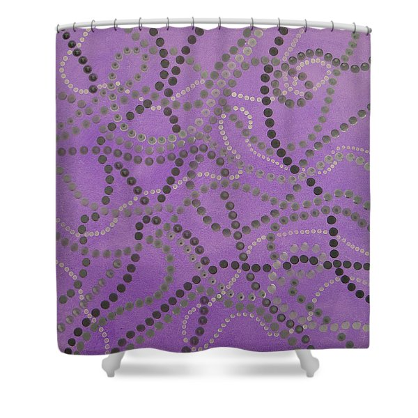 Beads And Pearls - Gray Shower Curtain