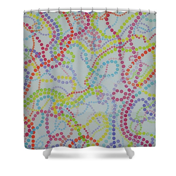 Beads And Pearls - Happy Day Shower Curtain
