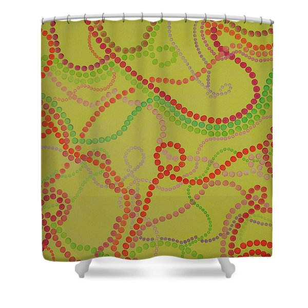 Beads And Pearls  - Happy Girl Shower Curtain