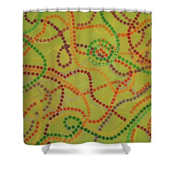 Beads And Pearls - September Shower Curtain