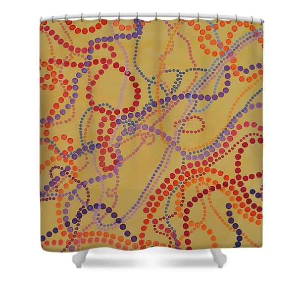 Beads And Pearls - Spicy 2 Shower Curtain