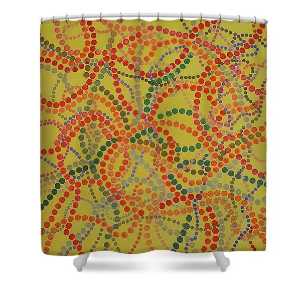 Beads And Pearls - Spicy Shower Curtain