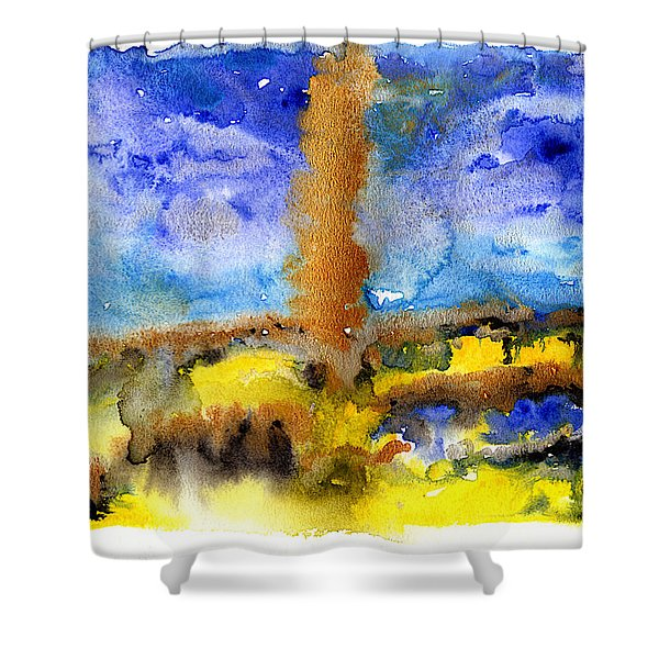 Shower Curtain featuring the painting Beam Of Light by Bee-Bee Deigner