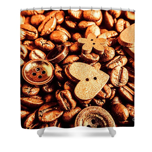 Beans And Buttons Shower Curtain