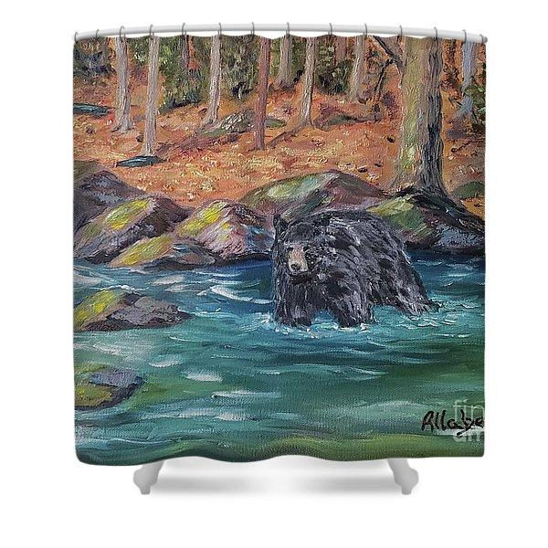 Bear Crossing Shower Curtain