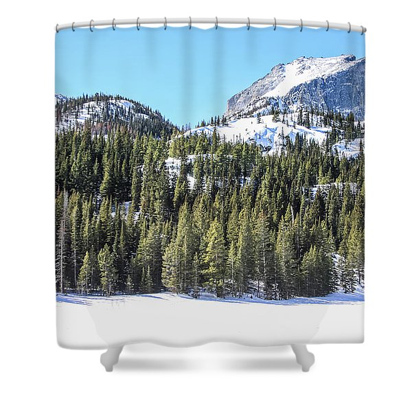 Shower Curtain featuring the photograph Bear Lake View Of Notchtop Mountain by Dawn Richards
