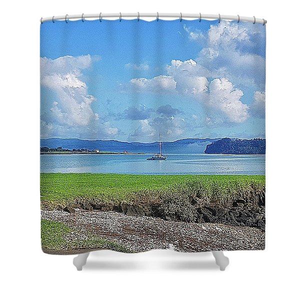 Beautiful Manukau Harbour Shower Curtain