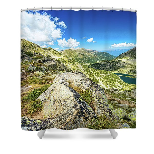 Shower Curtain featuring the photograph Beautiful Landscape Of Pirin Mountain by Milan Ljubisavljevic