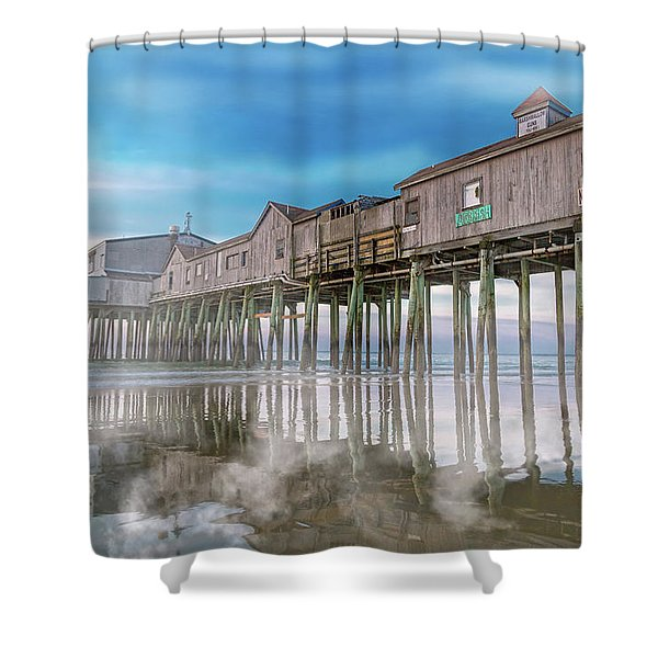 Beautiful Pier Maine Morning Shower Curtain