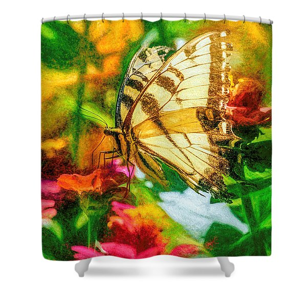 Beautiful Swallow Tail Butterfly Shower Curtain