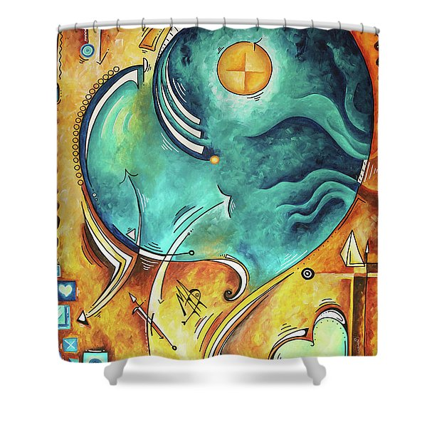 Beautiful Whimsical Heart Love Symbolic Painting Live Your Truth By Madart Megan Duncanson Shower Curtain