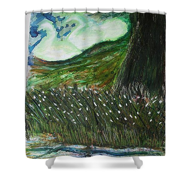 Beauty Is His Abusive Kingdom Shower Curtain