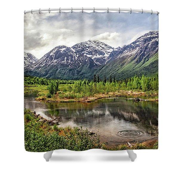 Beaver Pond, Eagle River Ak Shower Curtain