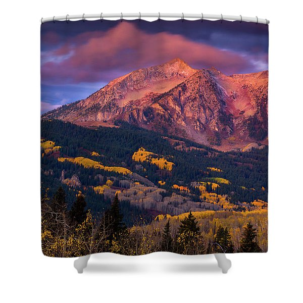 Shower Curtain featuring the photograph Beckwith At Sunrise by John De Bord